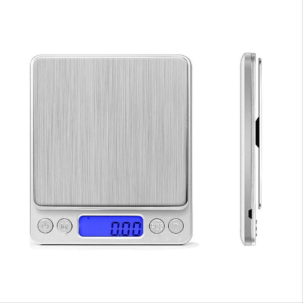 500 / 0,01g 1 Kg / 2 Kg / 3000g / 0,1g Lcd Portátil Mini Balanzas Digitales Electrónicas Estuche De Bolsillo Joyería De Cocina Postal Báscula De Equilibrio De Peso 3000g-0.1g