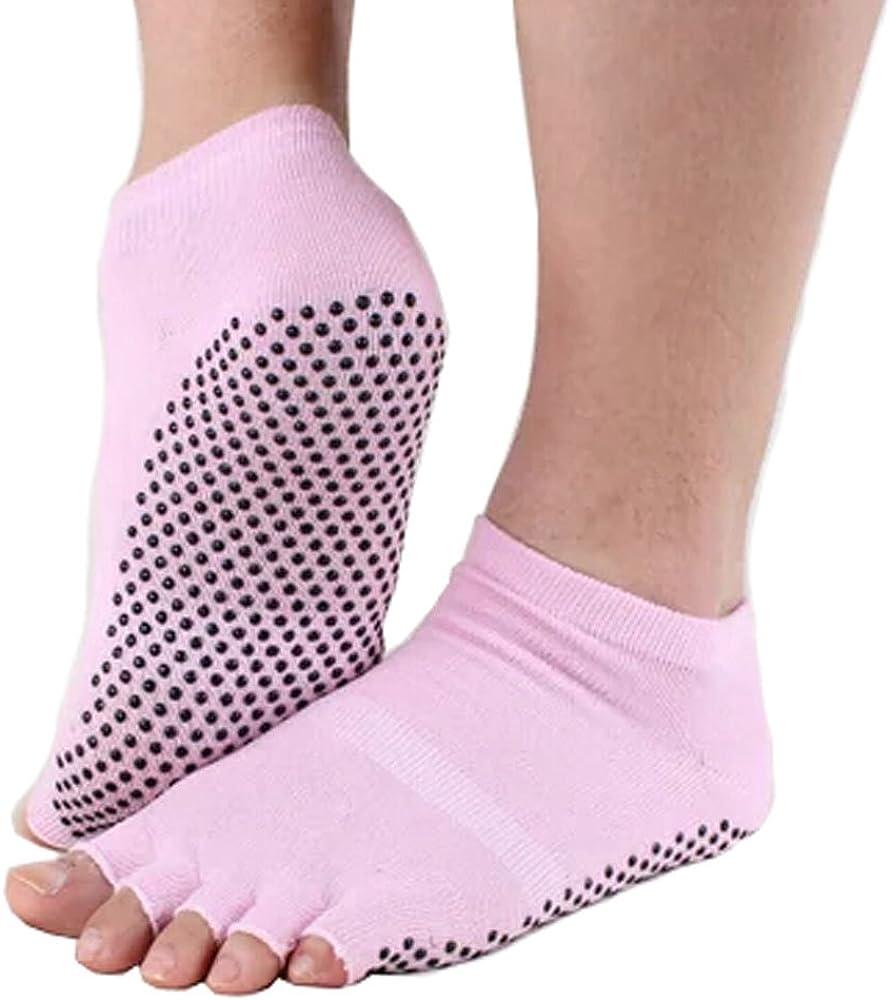 Phoenix Wonder Pure Women's Be super welcome Non Cheap super special price Slip Toe Socks Yoga Half Cotton