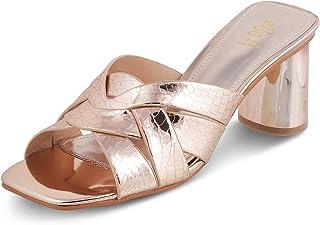 tresmode Women Casual Block Heel Fashion Sandal