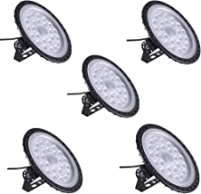 100W UFO LED High Bay Light Factory Warehouse Industrial Lighting 10000 LM 6000-6500K IP54 Warehouse LED Lights- High Bay LED Lights- Commercial Bay Lighting for Garage Factory Workshop Gym (5 PCS)