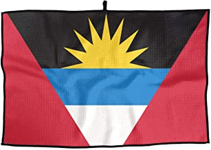 FRS Ltd Antigua and Barbuda Flag Golf Towel 15x24 Inches Comfortable Player Towel for Biking Hiking Pilates & More Sports