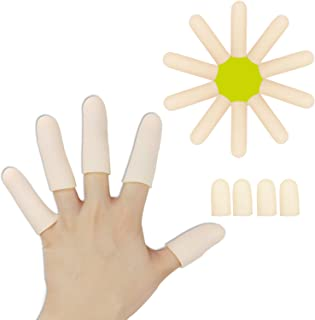 Best Gel Finger Cots, Finger Protector Support(14 PCS) NEW MATERIAL Finger Sleeves Great for Trigger Finger, Hand Eczema, Finger Cracking, Finger Arthritis and More. (10PCS Long + 4pcs Short) Review