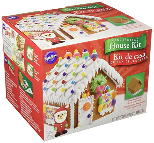 Wilton 2104-1915 Fully Assembled Gingerbread House Kit, Petite by Wilton