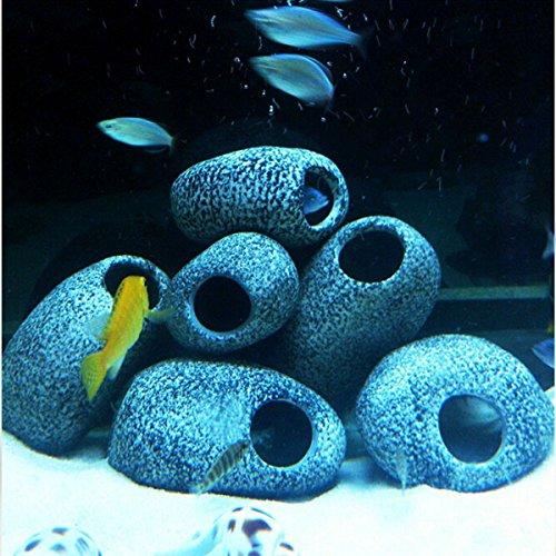 Bazaar wigvormige stenen voor aquarium, ornament van de steenholte van keramiek, tek-eene, container voor vissen met kichliden