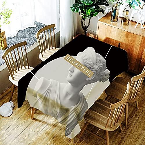 XXDD Mantel Impermeable con Estampado de flamencos de Animales de Plantas Tropicales decoración del hogar Mantel Rectangular Lavable a Prueba de Polvo A7 140x160cm
