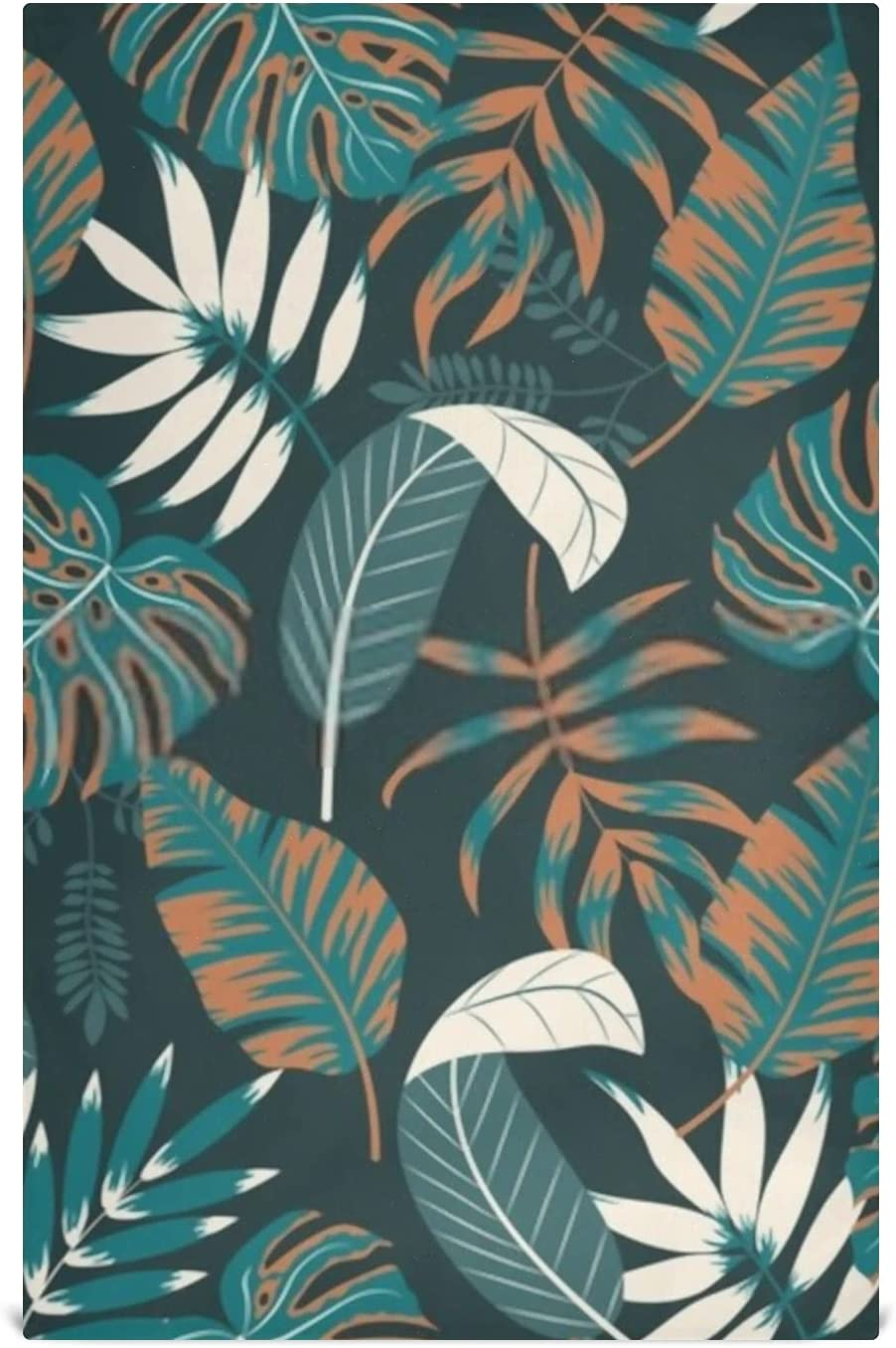HJSHG Now free shipping Kitchen Dish Towel Set Leaves To Very popular 6 Tropical Plants