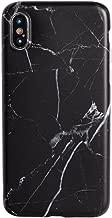 iPhone11ProMax ケース ソフト シリコン 薄型 シンプル 大理石 マーブル ストラップホール Qi対応 カバー黒 ブラックA 「 Stone ストーン 」 iPhone11ProMax iPhone11ProMax,3.ブラックA