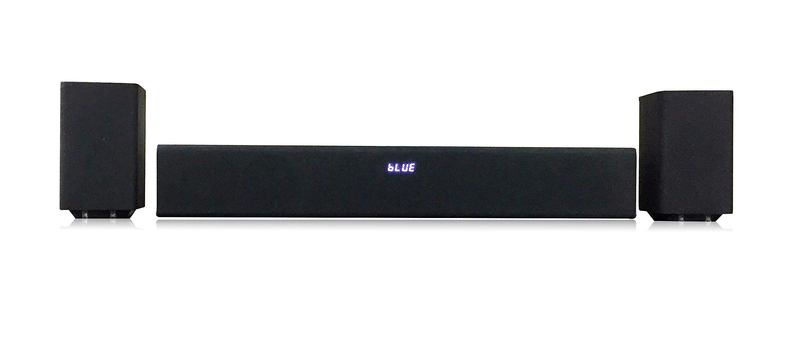 CURPSB3724W Detachable 2 1 Channel Bluetooth Subwoofer