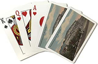 New York, NY - Metropolitan Museum of Art Exterior View (Playing Card Deck - 52 Card Poker Size with Jokers)