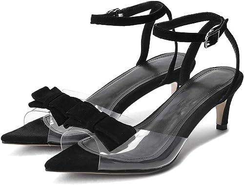 ZYN-XX ZYN-XX Arc Talons De Mode Transparent Sandales Pointu Arc Sandales Stiletto Sexy Poisson Bouche Chaussures Femmes Talon Moyen Sandales  les promotions