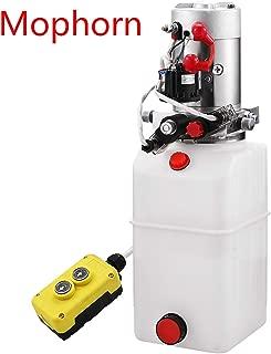 Mophorn 6 Quart Hydraulic Pump Dump Trailer Hydraulic Power Unit 12V Double Acting Hydraulic Pump Dump Truck