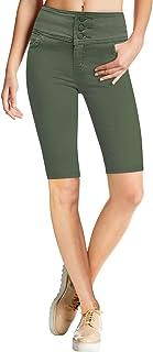 HyBrid & Company Women Butt Lift 3 Button High Waist Stretch Denim Skinny Jeans