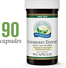 Nature's Sunshine Elderberry D3fense, 90 Capsules   Elderberry Supplement with Powerful Vitamin D, Sambucus Elderberry and Echinacea to Support The Immune and Respiratory Systems