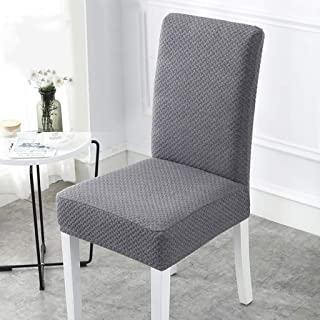 J&HO Home Removable Washable Waterproof Elastic Handmade Chair Seat Covers for Dining Room Ceremony Banquet Wedding Party