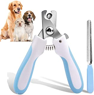 AIBORS Dog Nail Clippers Dog Cat Nail Trimmer Safe Professional with Safety Guard to Avoid Over-Cutting Nails, Free Nail File- for Large Medium Small Dog and Cat