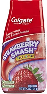 Colgate Fluoride Toothpaste Strawberry Smash Liquid Gel 4.60 oz ( Pack of 4)