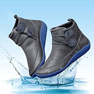 2019 New Women's Arch Support Boots with Side Zipper Ankle Boots Leather Comfortable Damping Shoes Platform Wedge Booties