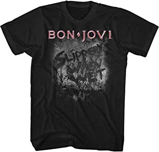 BON JOVI ボン・ジョヴィ (デビュー35周年記念) - MORE SLIPPERY/Tシャツ/メンズ 【公式/オフィシャル】