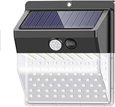 كشاف ضوئي يعمل بالطاقة الشمسية مزود بـ 136 لمبة ليد مقاوم للماء مع مستشعر حركة للاستخدام الخارجي في الحدائق