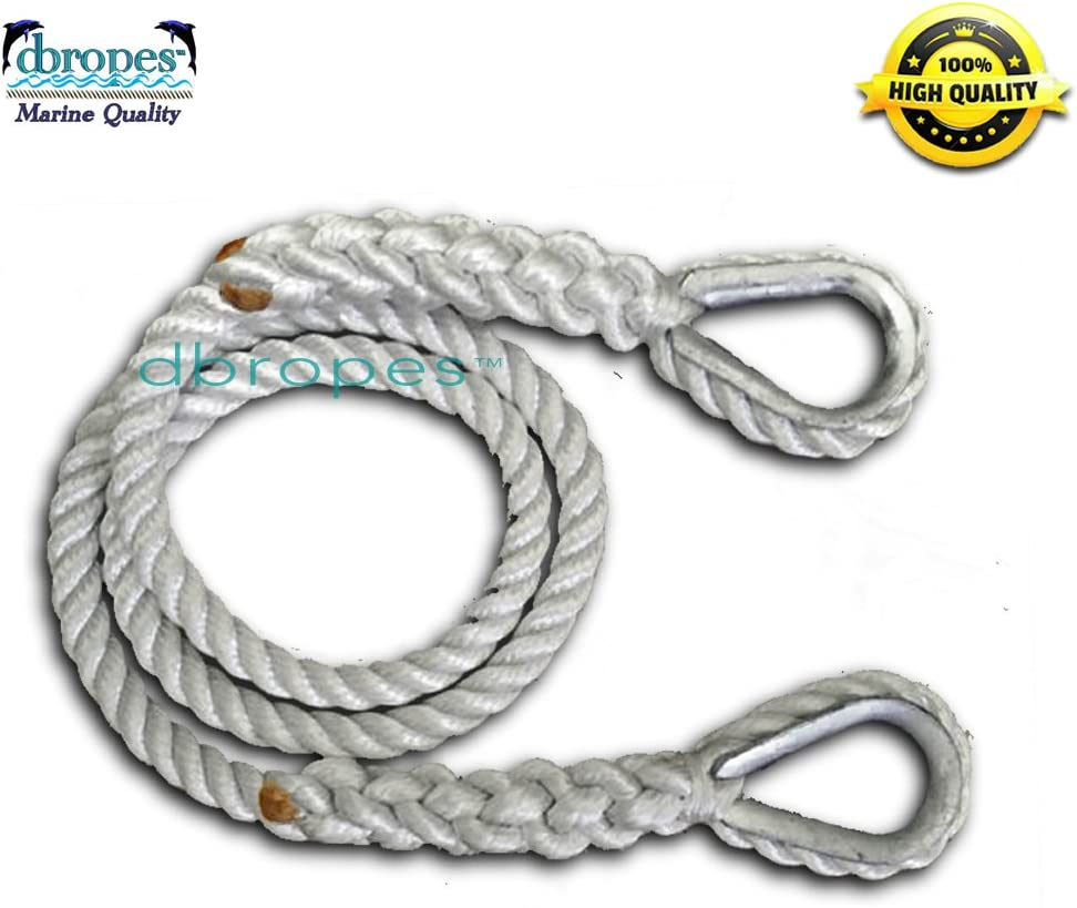 Super special price dbRopes Mooring Line Pendant with Max 41% OFF 2 Rope 100% Nylon Thimbles Te