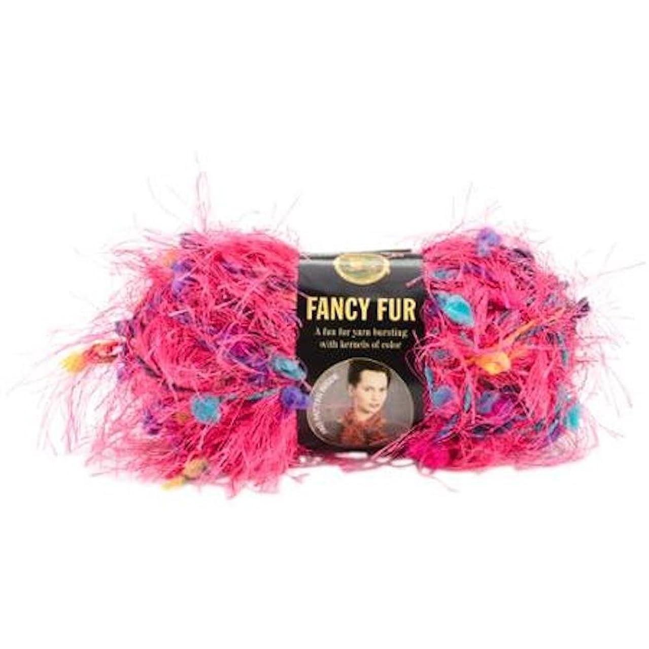 Lion Brand Fancy Fur Eyelash Yarn - #295 Party Pink