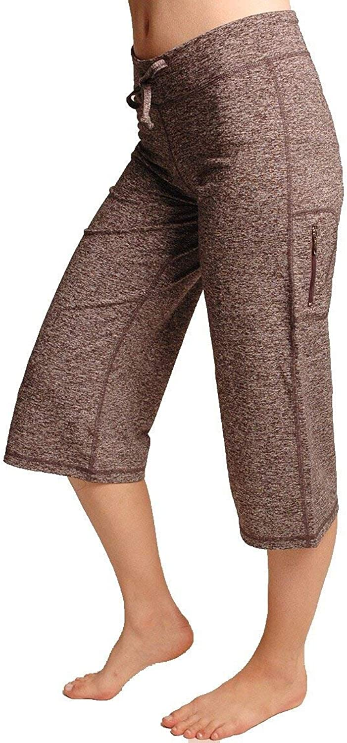 One Tooth Loose Fit Side Zipper Pocket Capri