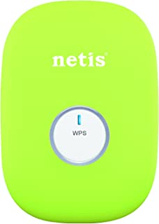 Netis E1+ 300Mbps Wireless N Range Extender, Travel Router, Wi-Fi Repeater, Green (E1+ Green)