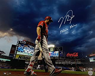 """MIKE TROUT Autographed and Inscribed""""MILLVILLE METOR"""" Los Angeles Angels City Field 16"""" x 20"""" Photograph MLB AUTHENTICATED"""
