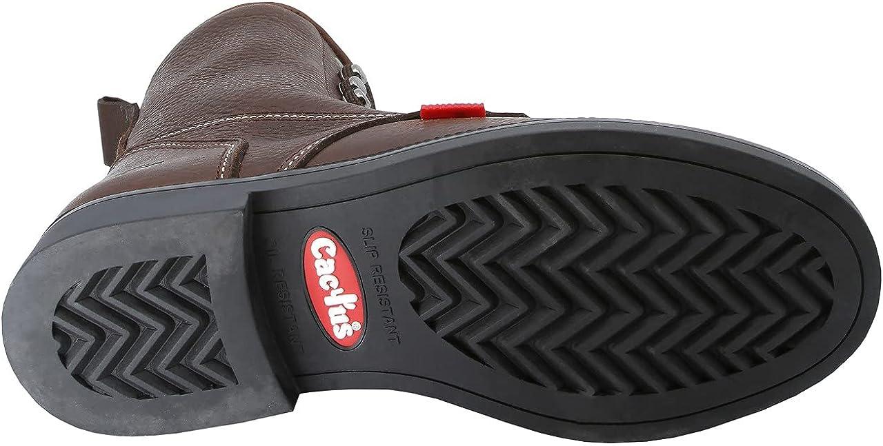 "Cactus Unisex L802 8"" Kiltie Soft Toe Oil Tumbled Full Grain Leather Certified Slip Resistant Rubber Outsole Farming Ranching Work Boot Non Slip Women's"