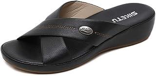 Damesschoenen sandalen vrouwelijk vakantiehuis comfortabele maat lichte stretchschoenen, abricot, 39 42 EU zwart