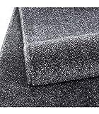 Teppich Kurzflor Modern Wohnzimmer Einfarbig Meliert Uni günstig Versch. Farben - Grau, 140x200 cm - 6