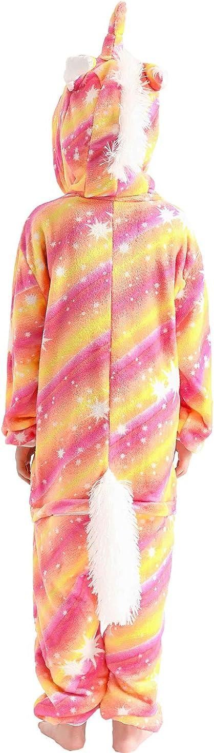 Kids Unicorn Costume Animal Cosplay Pajamas Halloweem Sleepwear
