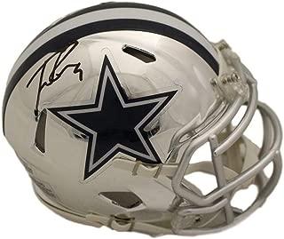 Tony Romo Autographed/Signed Dallas Cowboys Chrome Mini Helmet BAS
