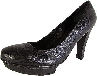 BCBG Max Azria Womens Elsa Leather Platform Pump Shoe