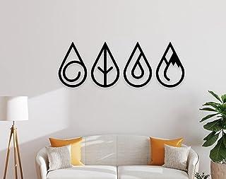 WALLCENTRE ART BEYOND IMAGINATION Metal 4 Element Drop Shape Wall Art - Hanging Showpiece for Living Room, Decorative Wall...