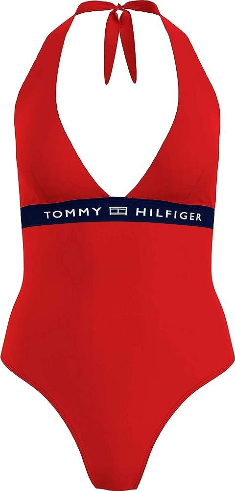 Tommy hilfiger one-piece halter costume da bagno intero per donna poliestere riciclato (85%) elastan (15%) ? UW0UW02711E