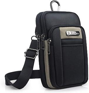 KSIBNW Riñonera Hombre Oxford Belt Purse Bag con 3 Bolsillos Riñonera Impermeable Molle EDC Tactical Phone Holder Monedero...