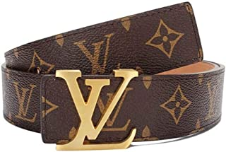 New Fashion Leather Metal Buckle Lv Belt Unisex Belt for Men/Women Casual Business