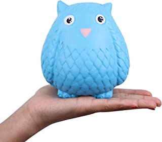 Anboor Squishies Owl Slow Rising Kawaii Scented Soft Animal Squishies Toys Blue