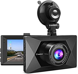 "Dash Cam, Crosstour 1080P Dash Camera for Cars 3"" LCD Screen Car Camera 170° Wide Angle DVR Recorder with WDR, G-Sensor, Loop Recording and Motion Detection"