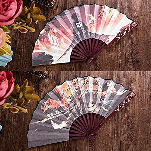 Escultura Ventilador plegable ventilador de mano atacando entrenamiento gigante ventilador plegable retro HD patrón de impresión a doble cara ventilador de seda ventilador de bambú fácil de usar y