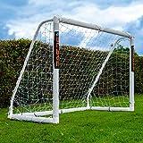 Football Flick - Portería de fútbol uPVC con Postes de 70 mm de Grosor tratados con UV (tamaños: 6 x 4, 8 x 4, 8 x 6, 12 x 6), Color Blanco, tamaño 6x4