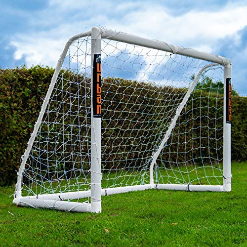 Football Flick Unisex, Jugendliche Urban Goal-6x4 Fußballtor, weiß, 6x4