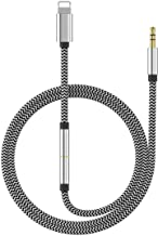 (Apple MFI Certified) Aux Cord for iPhone Xs XR X 8 7 Plus, Lightning to 3.5 mm Headphone Jack Adapter Aux Cable for Car Speaker Support iOS 11 12 (3-in-1)