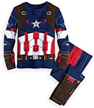 YFYBaby Baby Boys' Pajama Sets Captain America Kids Long Sleeve Sets 100% Cotton Clothes Cartoon Sleepwears 1-8years