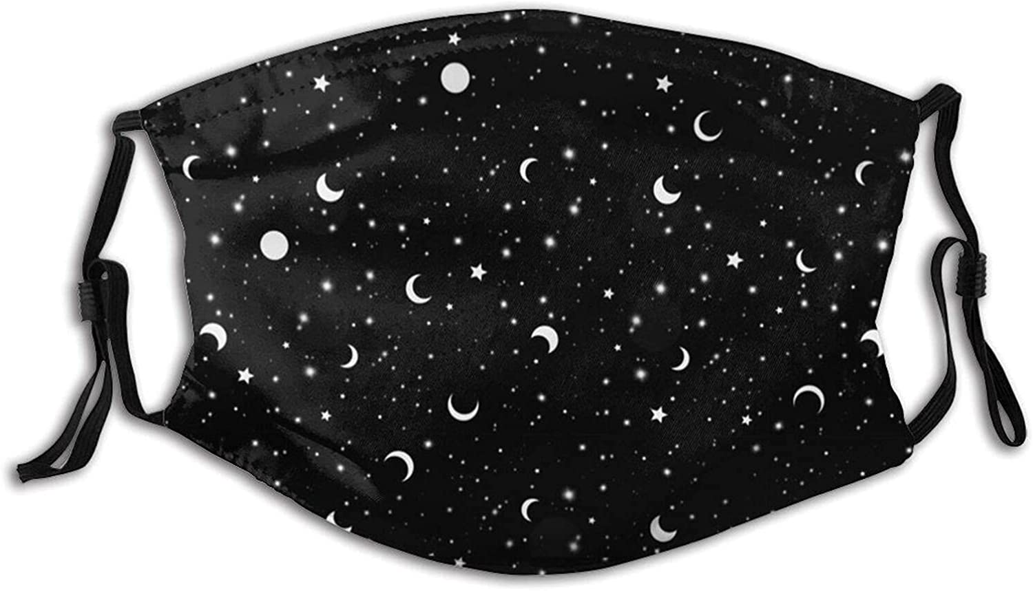 After We Die Moon Face Mask Scarf, Washable Reusable Adult Mask Balaclava with 2 Filters, for Men & Women Outdoor