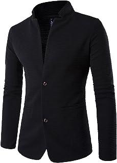 comprar comparacion ZhuiKun Chaquetas Blazer Hombre Casual Slim Fit Dos Botones Chaqueta Corto Abrigo