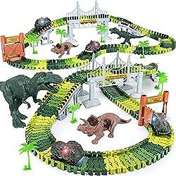 3. Toyk Store Dinosaur Track Playset (156pcs)