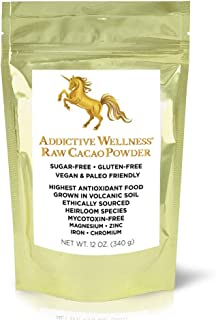 Addictive Wellness Raw Cacao Powder - Heirloom Mycotoxin-Free Arriba Nacional Chocolate