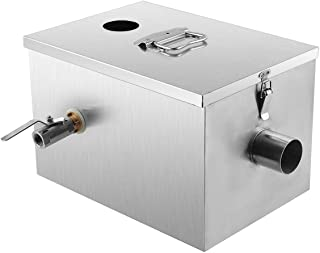 BEAMNOVA Commercial Grease Trap 8lbs Stainless Steel Interceptor